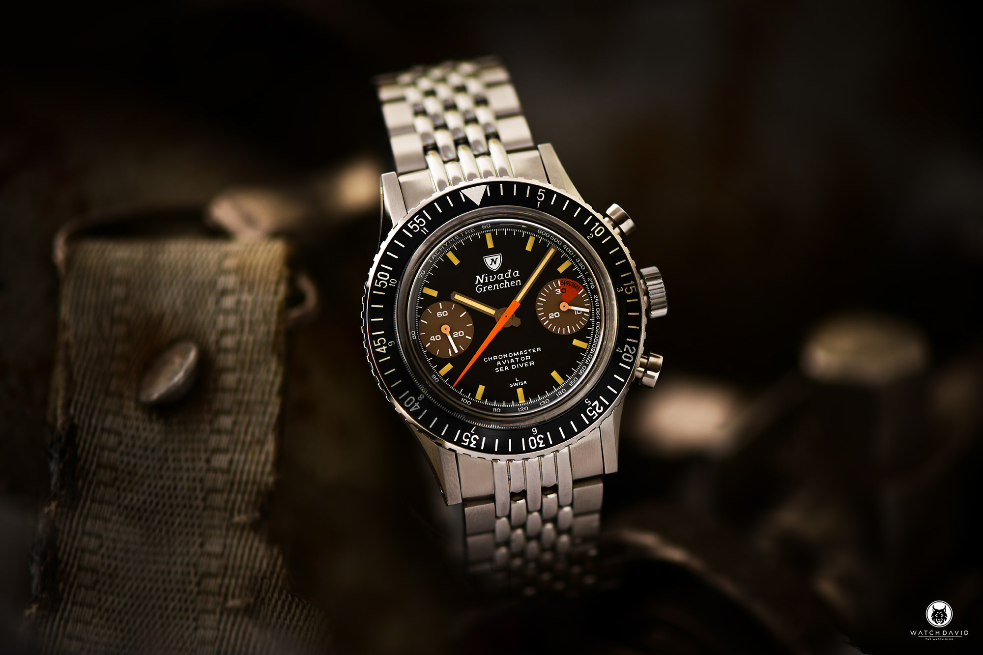 Nivada Grenchen Chronomaster Aviator Sea Diver