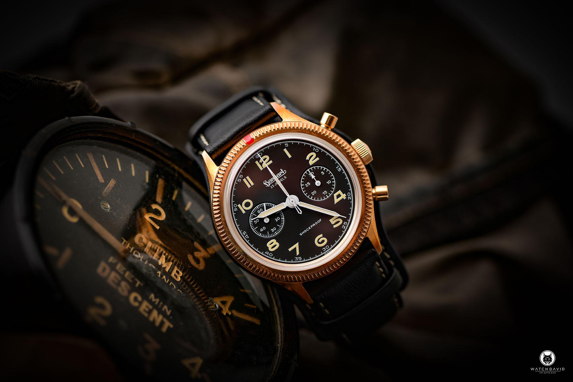 Hanhart Bronze 417 Flieger Chronograph – Hanhart X The Rake & Revolution
